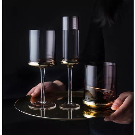 【アウトレット】ゴールドリング ワイングラス