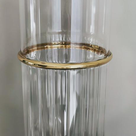 クリアガラス×ゴールドリング ラージ
