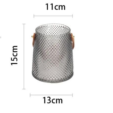 フラワーベース レザーハンドル スモール