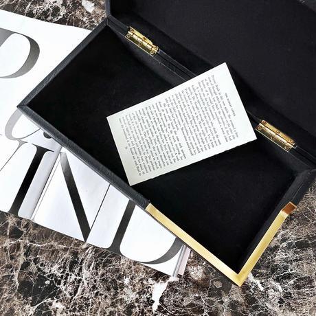 インテリアボックス ブラックレザー