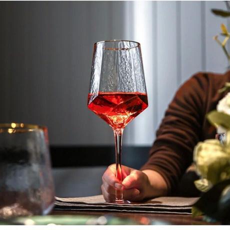 ゴールドフレーム ワイングラス