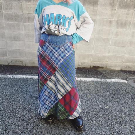 Patchwork check skirt