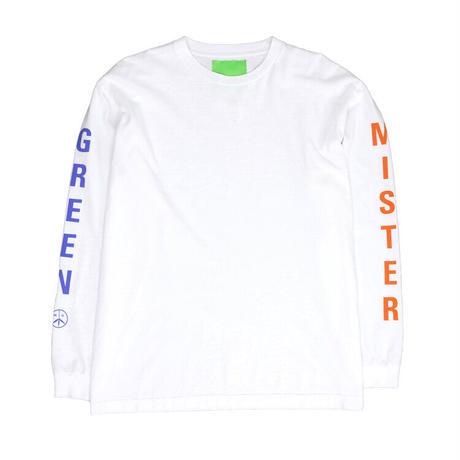 Mister Green / Swiss Wordmark LS / White