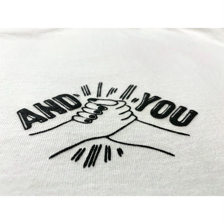 And You Handsign Tee / White
