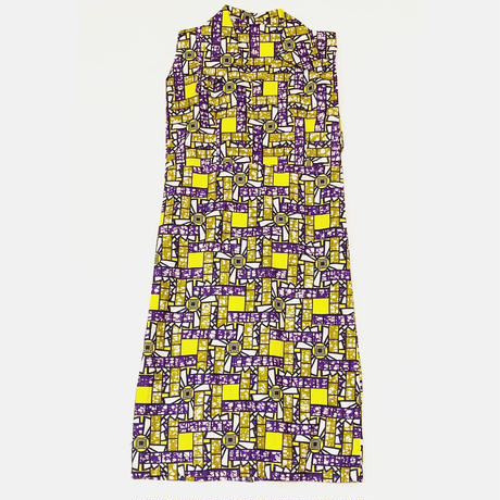 African batik no sleeve onepiece
