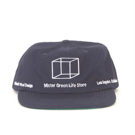 Mister Green / Minimalist Weed Design Shop Cap / Navy