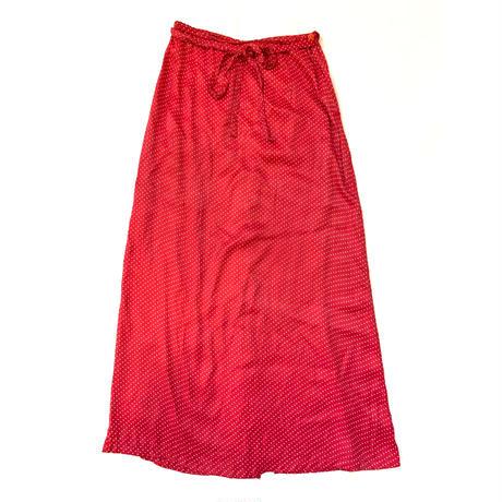 Dot long skirt