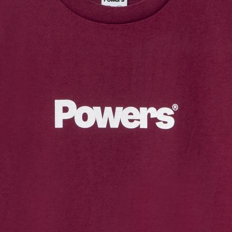 POWERS / POWERS LOGO SS TEE - MAROON