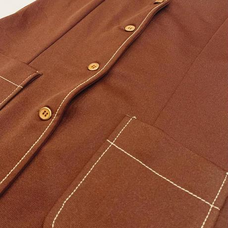 Brown no sleeve vest
