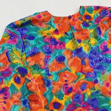 80s' Jacquard blouse