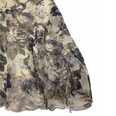 Flower print Midi-skirt