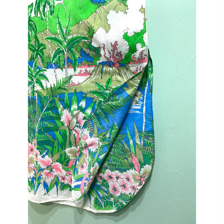 Botanical print one-piece