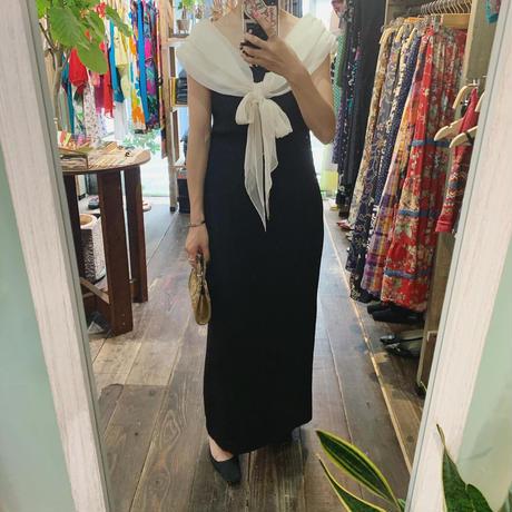 70s' Off-shoulder dress