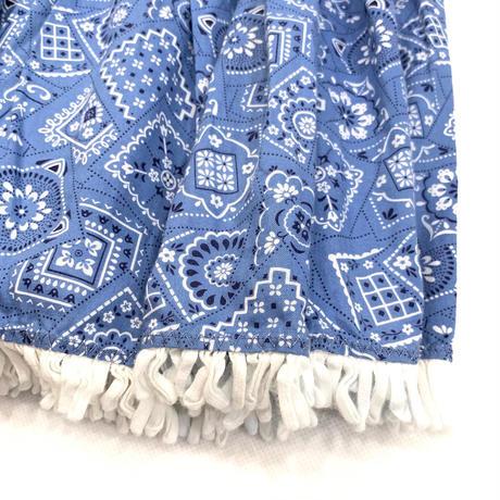 Paisley fringe long skirt
