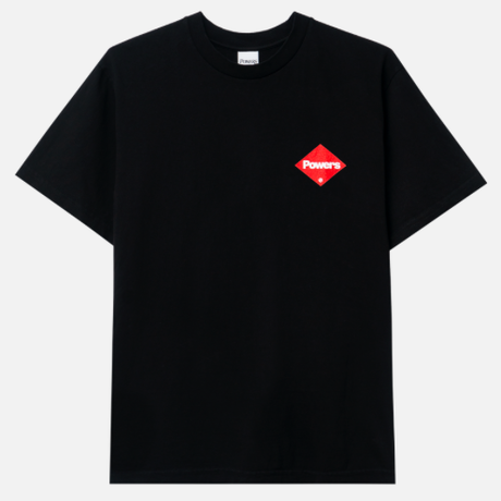 POWERS / Diamond Logo SS Tee / Black