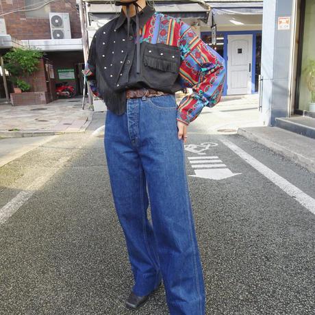 80s' C&K wide jeans pants