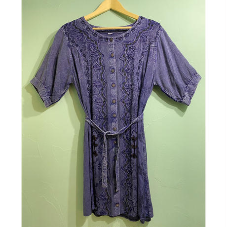 Chain embroidery tunic