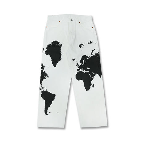 Boogie-Woogie Works × And You / Map Jeans / Cow(White)