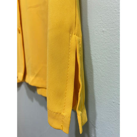 Yellow simple over-size shirt