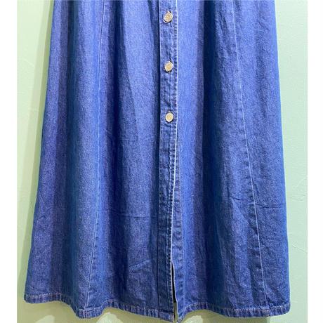 Western denim skirt