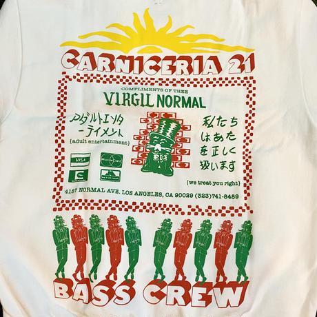 Virgil Normal / BASS CREW Crew Neck Sweat