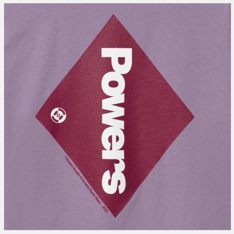 POWERS / Diamond Logo SS Tee / Muted Plum