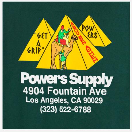 POWERS / Get A Grip Shop LS Tee / Dark Green