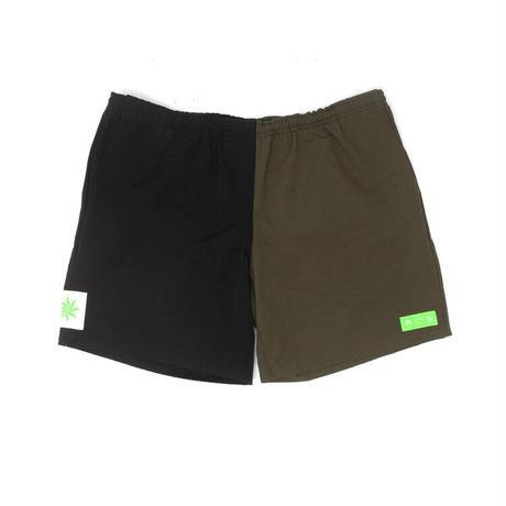 Mister Green / Split River Shorts / Olive&Black