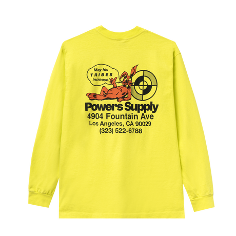 POWERS / POWERS SHOP LOGO LS TEE - SAFETY YELLOW