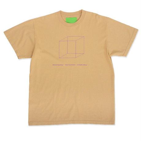 Mister Green / Minimalist Weed Design Shop Tee / Deep Beige