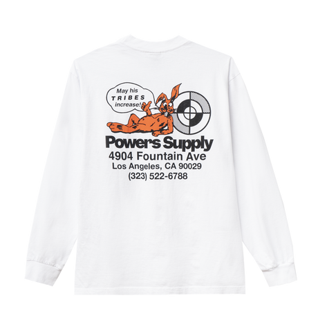 POWERS / POWERS SHOP LS TEE - WHITE