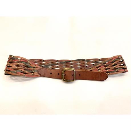 Leather mesh belt