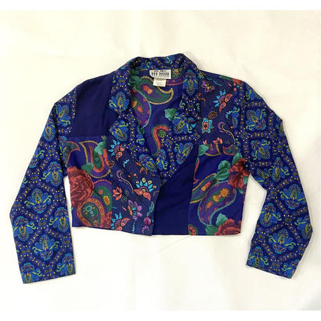 Paisley short shirt jacket