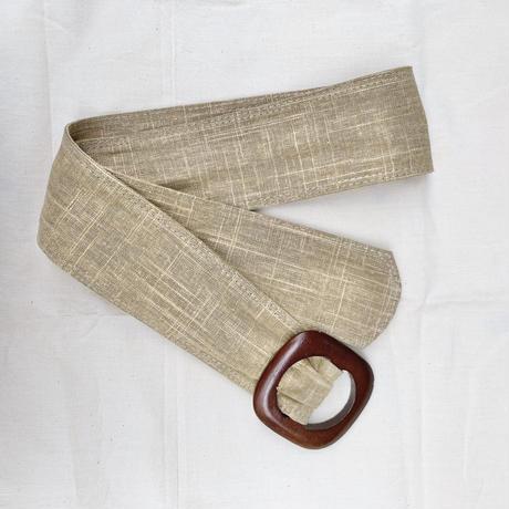 Wood buckle belt
