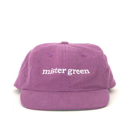 Mister Green / Wordmark Cap / Purple