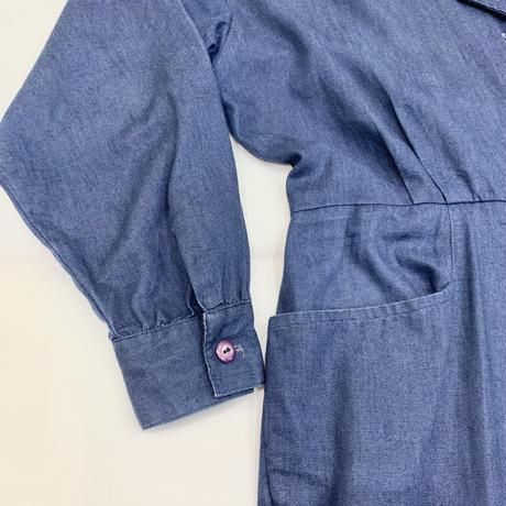 80s' Star studs denim jumpsuit