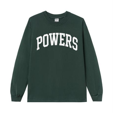 POWERS / ARCH LS TEE / DARK GREEN