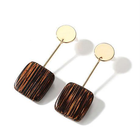 wood earrings/ウッド ピアス