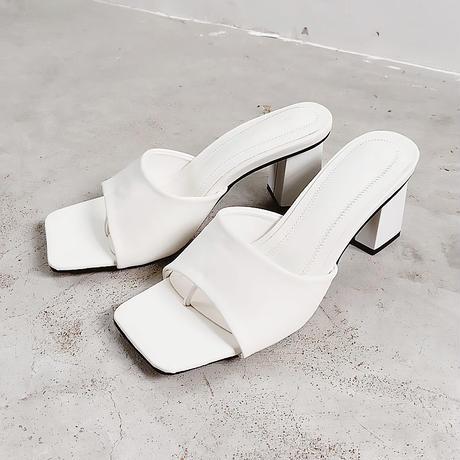 3color square toe sandals/3カラー スクエアトゥ サンダル