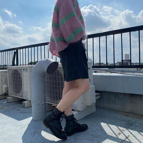 Leather Bermuda shorts/レザー バミューダパンツ