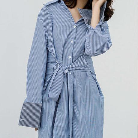 stripe shirt dress/ストライプ シャツ ドレス