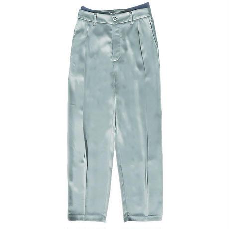 Sax blue high waist pants/サックスブルー ハイウエスト パンツ
