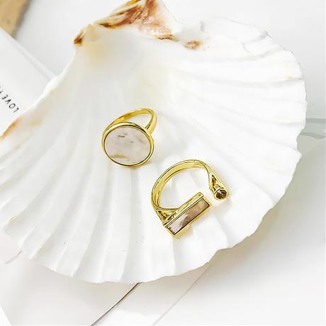 2pattern Shell ring set/2パターン シェル リングセット