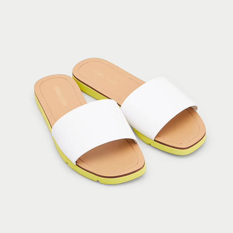 Color flat sandals/カラー フラットサンダル