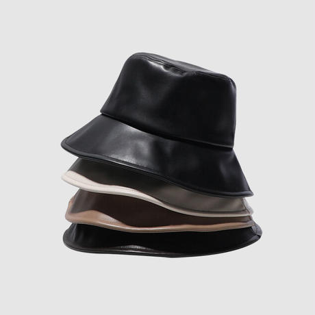 Eco leather bucket hat/エコレザー バケットハット(4color)