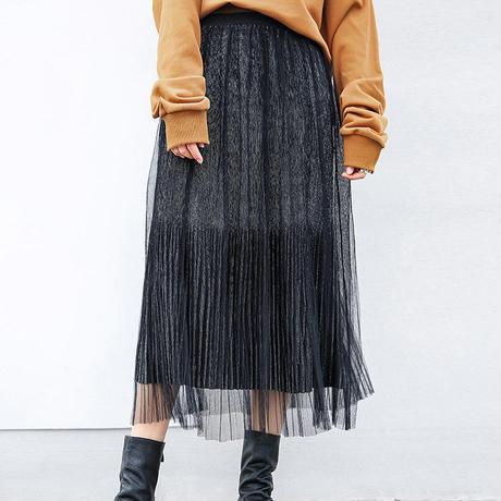 glitter see-through skirt/グリッター シースルースカート
