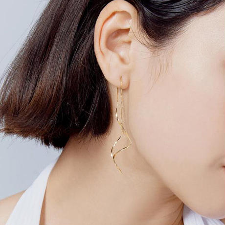 Waves earrings/ウェーブ ピアス(2color)
