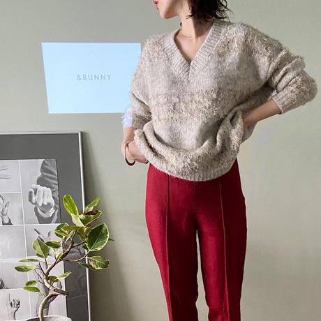Mix color v neck knit/ミックスカラー Vネック ニット