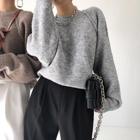Raglan sleeve knit/ラグラン スリーブ ニット(2color)