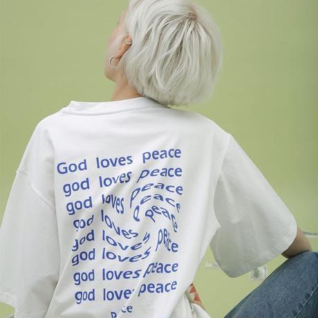 god loves peace  white t shirt/ゴッド ラブス ピース ホワイト Tシャツ